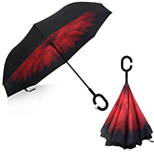 Rainlax Inverted Umbrella Double Layer Windproof UV Protection