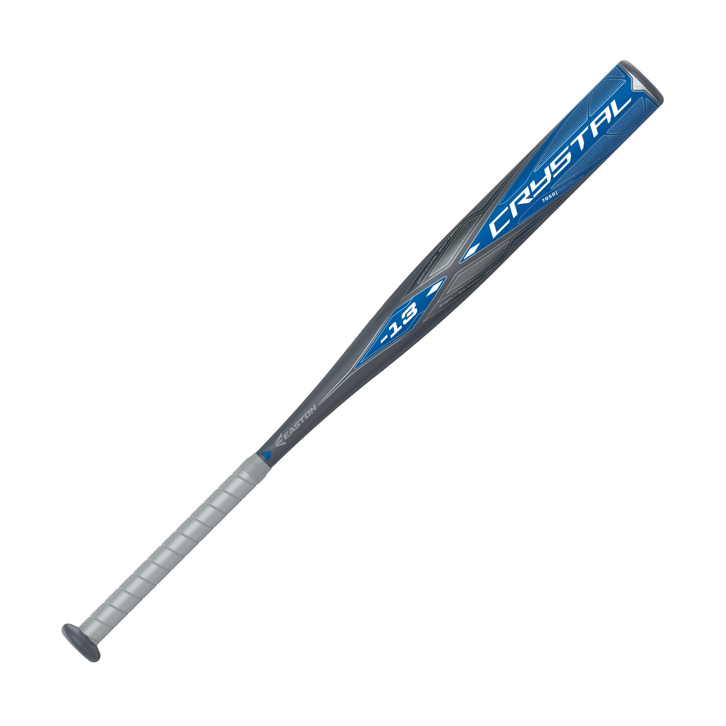 EASTON CRYSTAL -13 Fastpitch Softball Bat | 2020 | 1 Piece Aluminum | 7050 Aircraft Alloy For Fast Swing Speed | Ultra Thin Handle | Pro Style End Cap | Comfort Grip | Approved All Fields by Easton