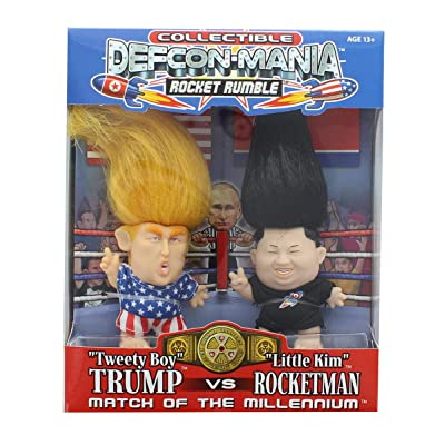 Defcon-Mania Global Toy Trump vs Kim Jong-un Collectible Troll Doll Set: Toys & Games