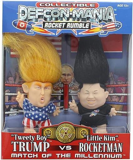Tweety Boy Trump vs Little Kim Rocketman 5-Inch Mini Doll Figure 2-Pack