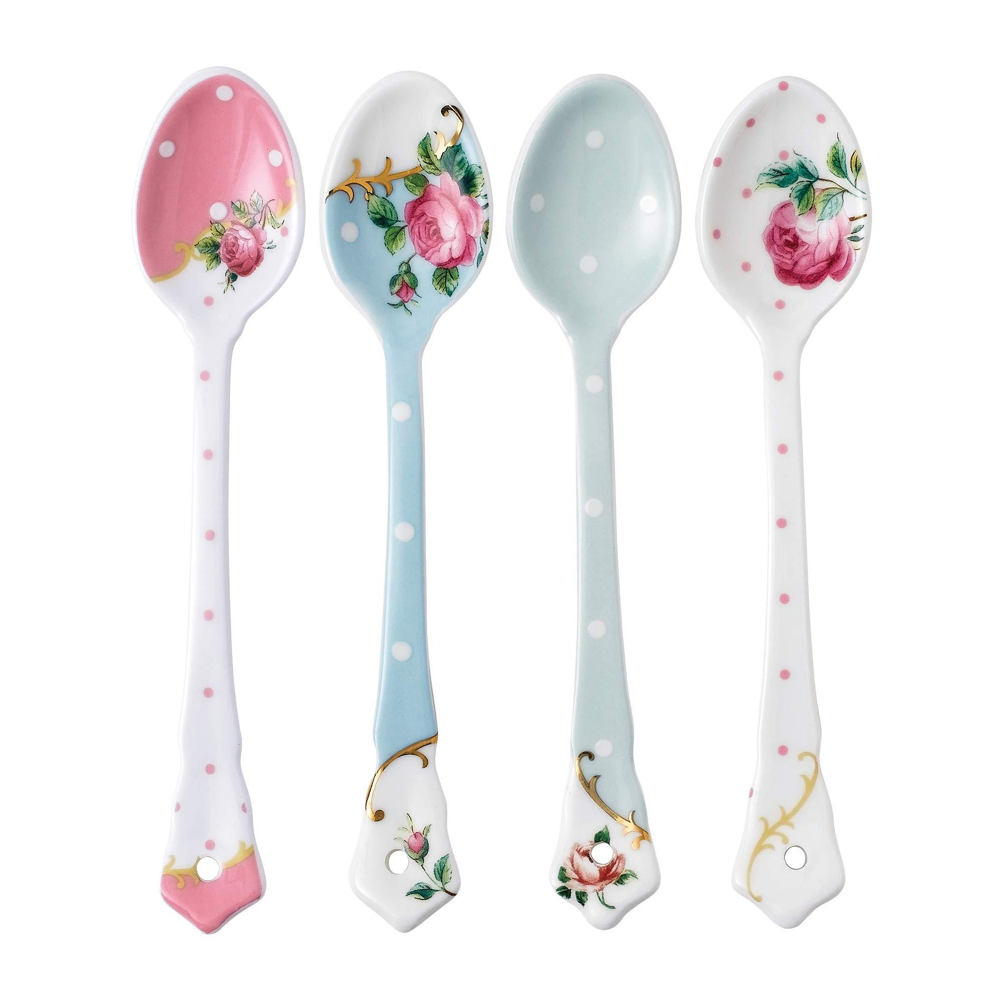 Royal Albert Set of 4 Mixed Ceramic Spoons by Royal Albert