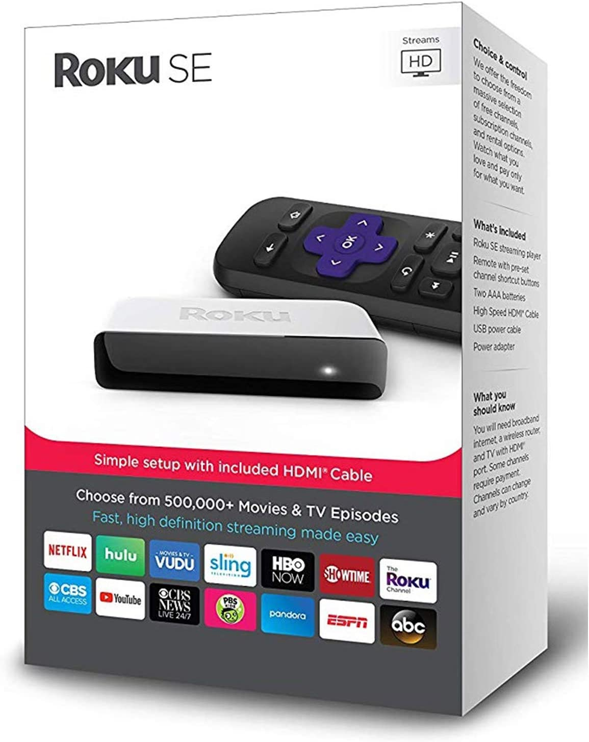 Roku 3900SE SE- Fast High-Definition Streaming. Easy On The Wallet
