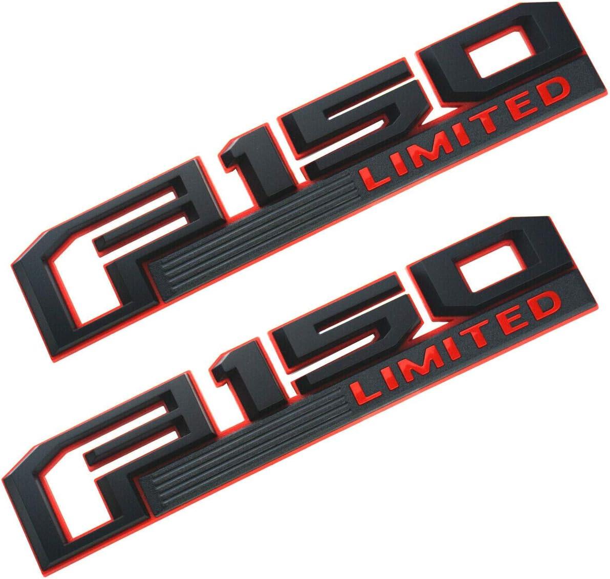 Red 2015-2019 F-150 Limited Fender Emblem Nameplates Right /& Left Side