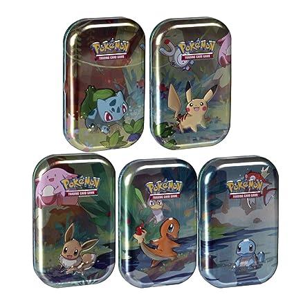 Amazon.com: Pokemon Kanto Friends – Juego de 5 mini lata con ...