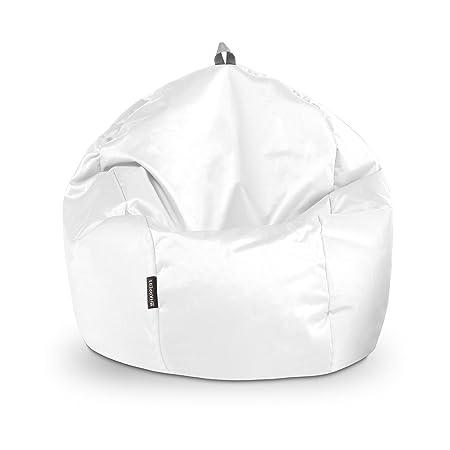 HAPPERS Puff Pelota Naylim Impermeable Blanco: Amazon.es: Hogar