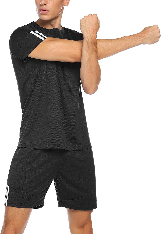 Aibrou Surv/êtement Ensemble Femmes 2Pcs Tenue de Sport T-Shirts de Sport et Shorts de Sport pour Yoga Running Jogging Gym