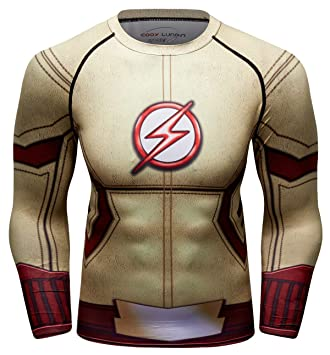 Cody Lundin Camisas de Deporte Hombre Camisas Ajustadas Lightning Hero Hombres Sudadera Deportiva Transpirable Camisetas de