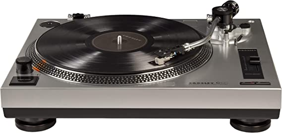 Crosley C100 Belt-Drive Turntable with S-Shaped Tone Arm with Adjustable Counterweight