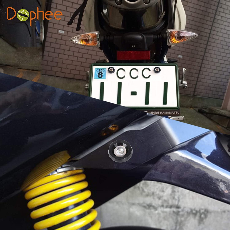 Schwarz,20 St/ück Billet Aluminium Sto/ßstange Kotfl/ügel M6 Schraube Bolt Motor Bay Dress Up Kit