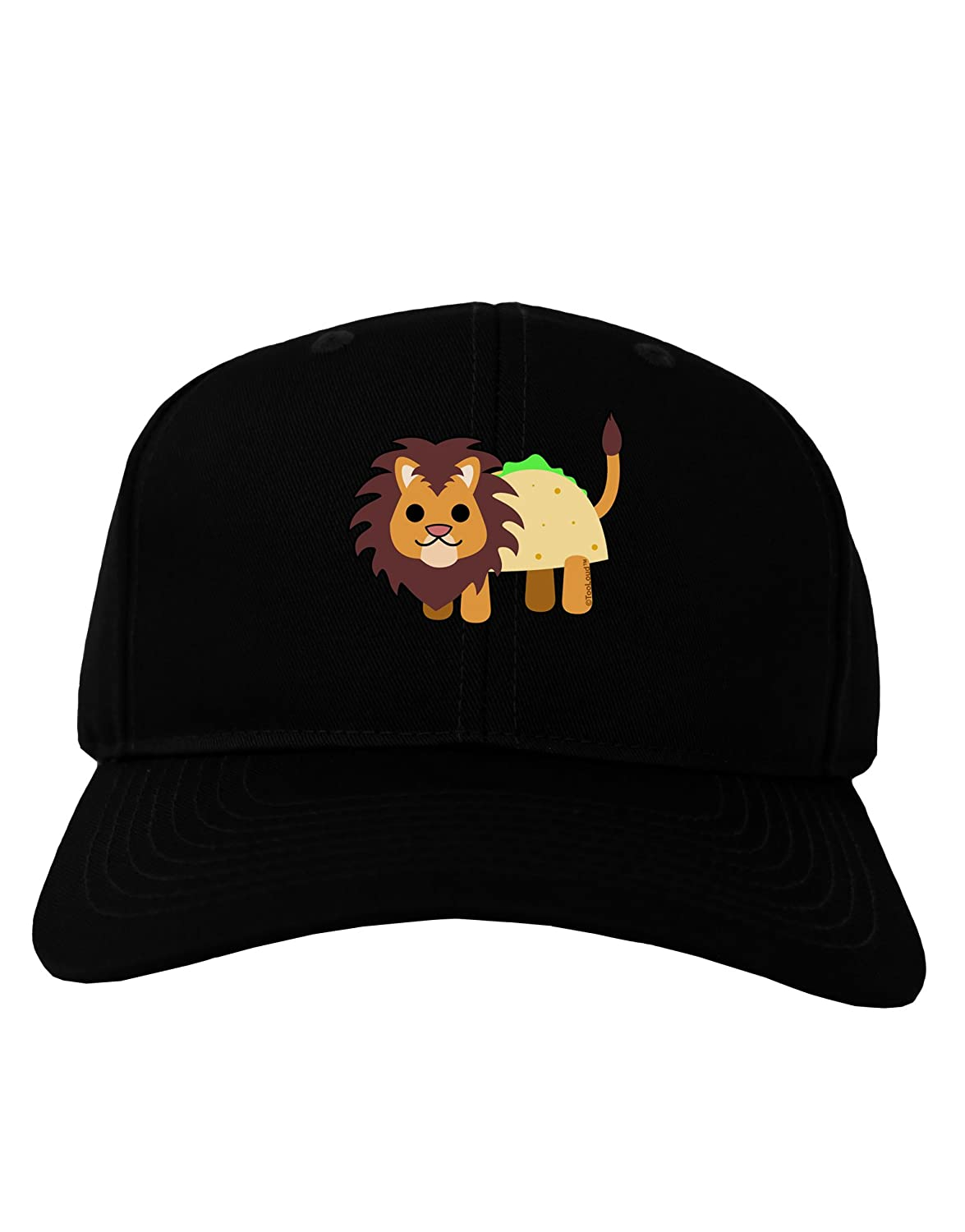 Amazon.com  TooLoud Cute Taco Lion Adult Dark Baseball Cap Hat - Black   Clothing 59f18bb912b1