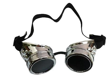 Steampunk AikeSweet latón envejecido, color cobre Cyber Goggles soldadura Goth Cosplay, diseño gótico &