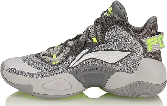 LI-NING Power V Series CJ McCollum Zapatos de baloncesto profesionales acolchados con forro de nubes de corte alto, zapatillas deportivas ABAN045 ABAP023 ABAP025 ABAP067, (Power VI Gris Blanco), 40 EU: Amazon.es: Zapatos