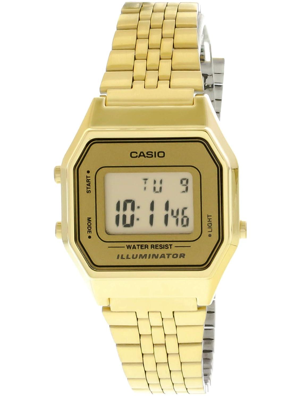 49a2dd10f1b Relógio Feminino Digital Casio LA680WGA-9DF - Dourado  Amazon.com.br   Amazon Moda