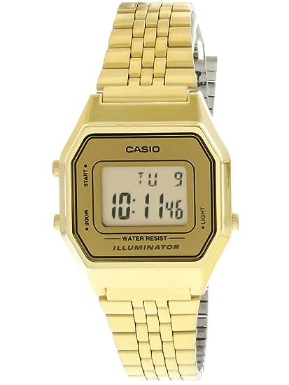 65dd62ae47e Relógio Feminino Digital Casio LA680WGA-9DF - Dourado  Amazon.com.br ...