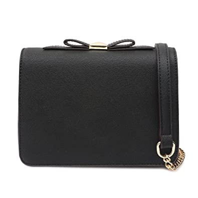 Small Crossbody Purse Wallet Pu Leather Bags with Bowknot Chain Strap for Women  Shoulder Handbags ( b978527e6536c