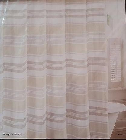 Amazon.com: Nautica Shower Curtain Prospect Harbor Cotton Multi ...