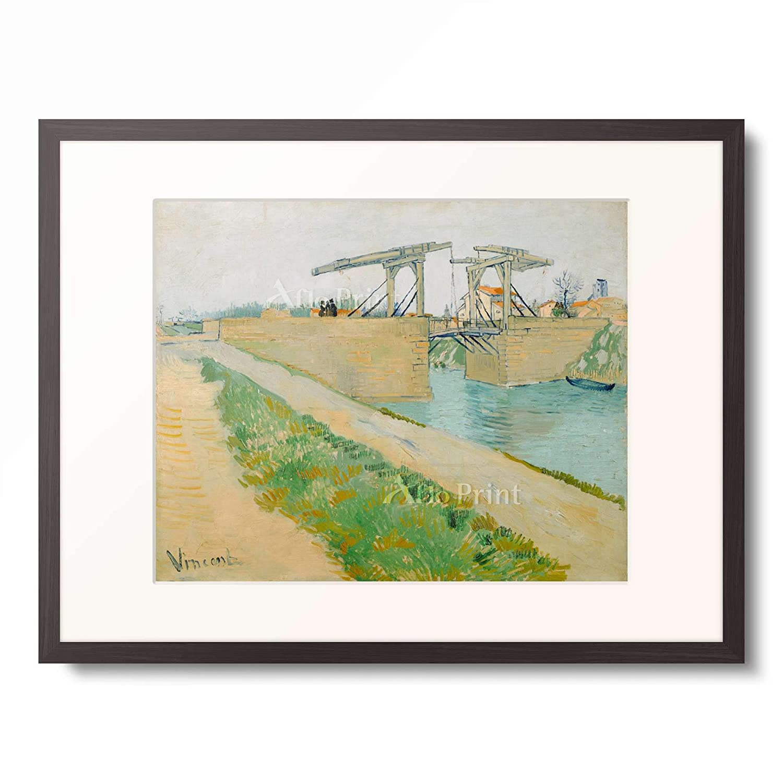 フィンセントファンゴッホ Vincent Willem van Gogh 「Die Brucke von Langlois, 1888.」 額装アート作品 B07PHK1PQ7 03.木製額 12mm(墨) L(額内寸 509mm×394mm) L(額内寸 509mm×394mm)|03.木製額 12mm(墨)