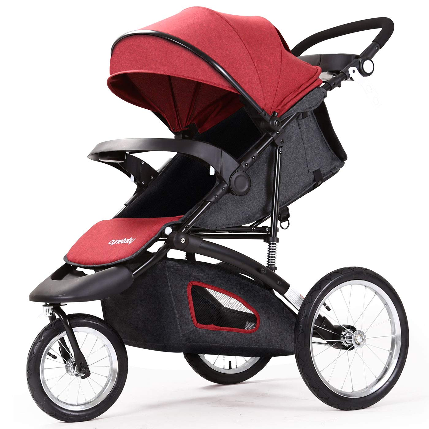 Jogging Stroller Fold City Baby Jogger Travel Citi Jog Strollers Single Toddler Baby Pram Jogging Compact Urban Ultralight Joggers Beby Carriage Pushchair Stroller Travel System by Cynebaby / HAIXIAO (Image #1)