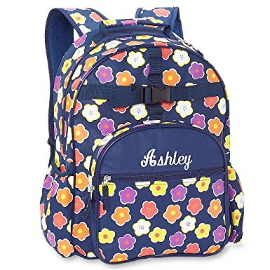 Remarkable Amazon Com Navy Floral Personalized Backpack By Lillian Caraccident5 Cool Chair Designs And Ideas Caraccident5Info