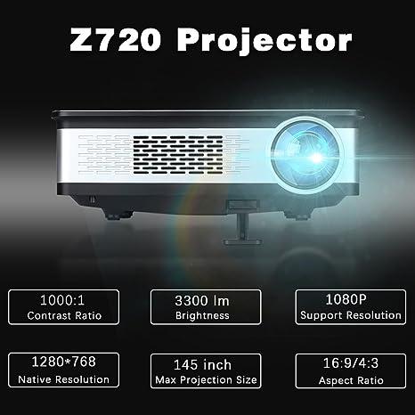 Excelvan – Z720 – Proyector multimedia proyector (5.8 pulgadas ...