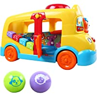 Kiddale Multi-Function Baby Musical Mini School Bus Toy with Balls for 6 Month to 3 Years