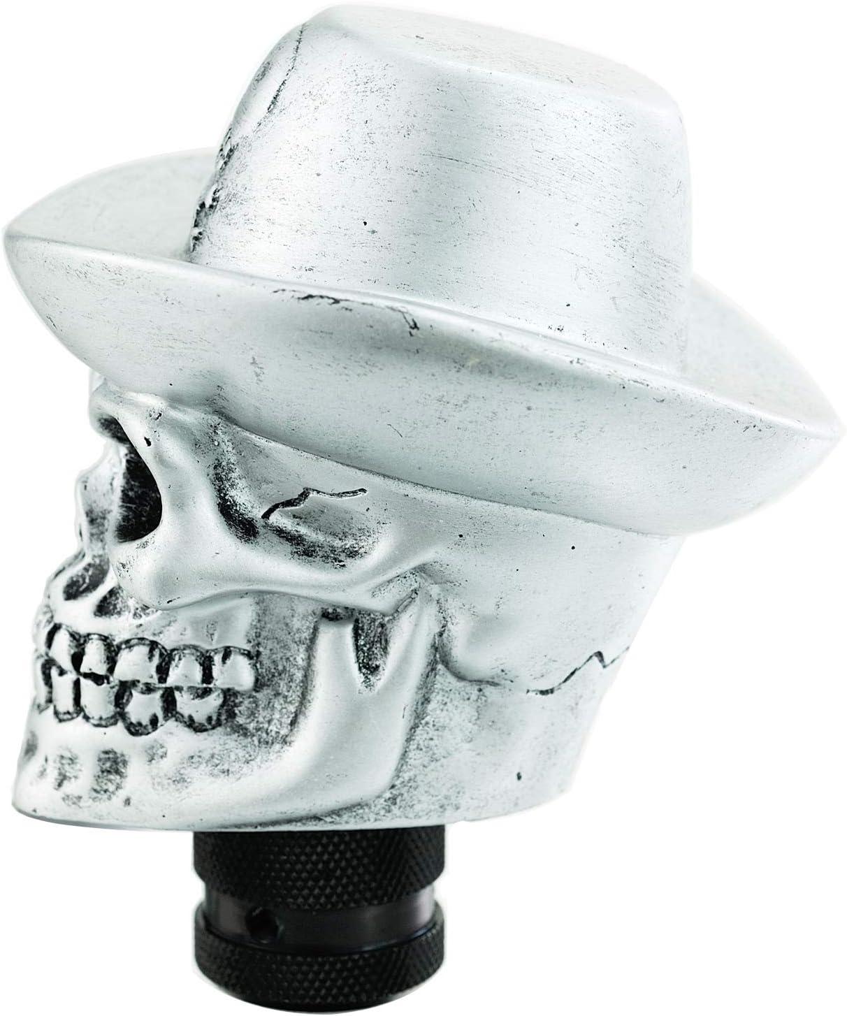 Blue Hat Lunsom Skull Gear Knob Hat Car Transmission Shifter Stick Handle Head Fit Universal Automatic Manual Vehicle