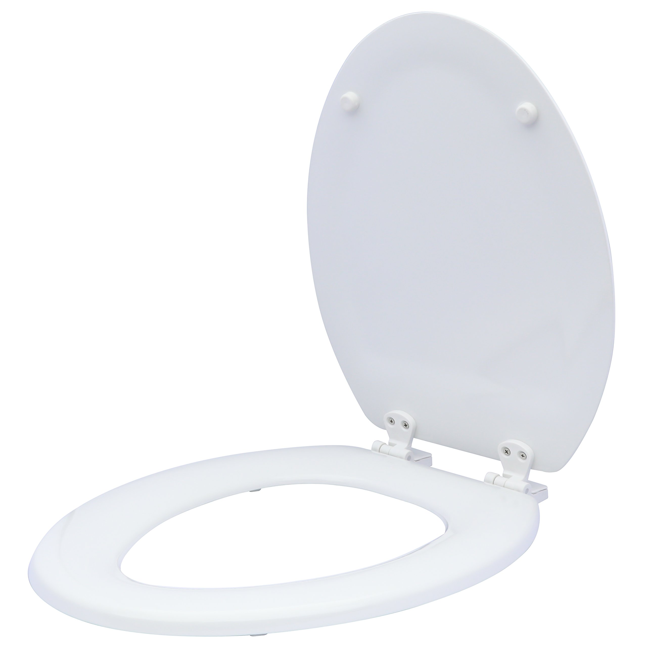 Karlson KS1242-1912-WH Deluxe Molded Wood Elongated Toilet Seat White
