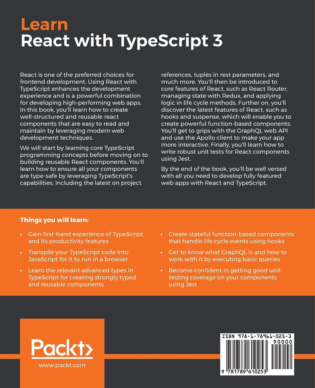 Learn React with TypeScript 3: Beginner's guide to modern React web