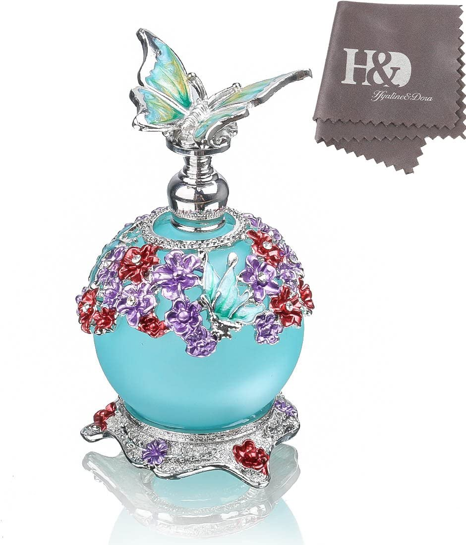 H&D Butterfly Perfume Bottle,Retro