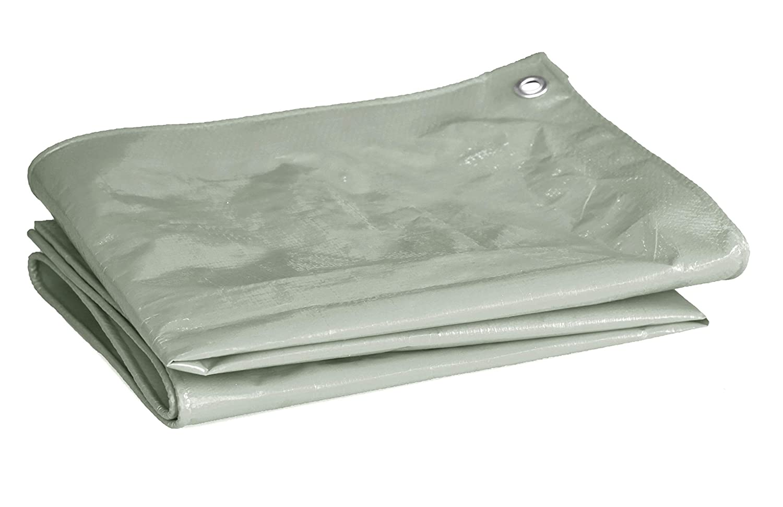 Shop Canadas 10 x 12 Feet Gray Multi Purpose Waterproof Poly Heavy Duty Tarp Cover 9 Mil Thick 10 x 10 Weave Free Blue tarp - 6 x 8 Size