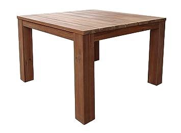QUICK STAR Table de Jardin en Bois d\'acacia Naturel 90 x 90 ...