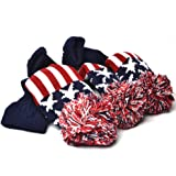 GOOACTION 3PCS Knitted Golf Head Covers 1-3-5 for Driver and Fairway Woods with Long Neck Design Vintage Sock Pom Pom…