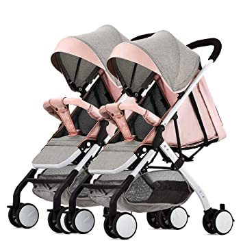 Defect Cochecito de bebé Doble Desmontable, reclinable, Ligero, Plegable en Dos direcciones, Carrito Doble: Amazon.es: Hogar