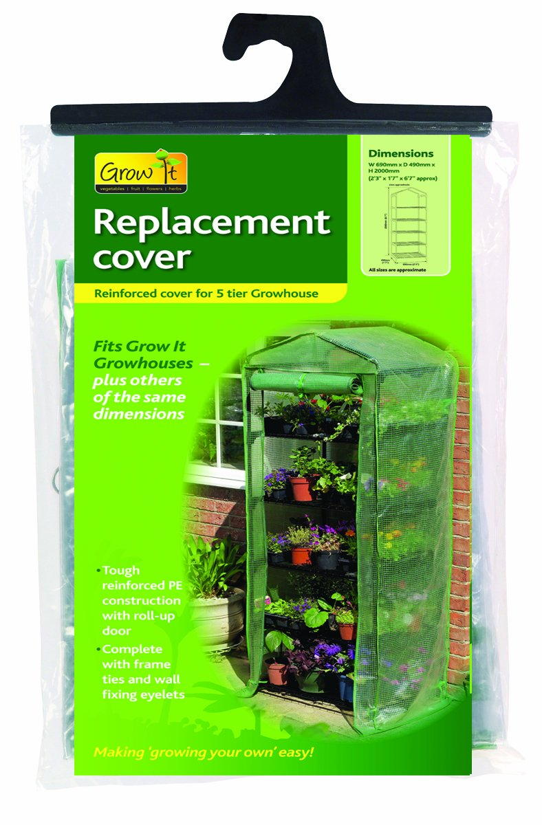 Gardman 5 Tier Mini Greenhouse Reinforced Replacement Cover 08721