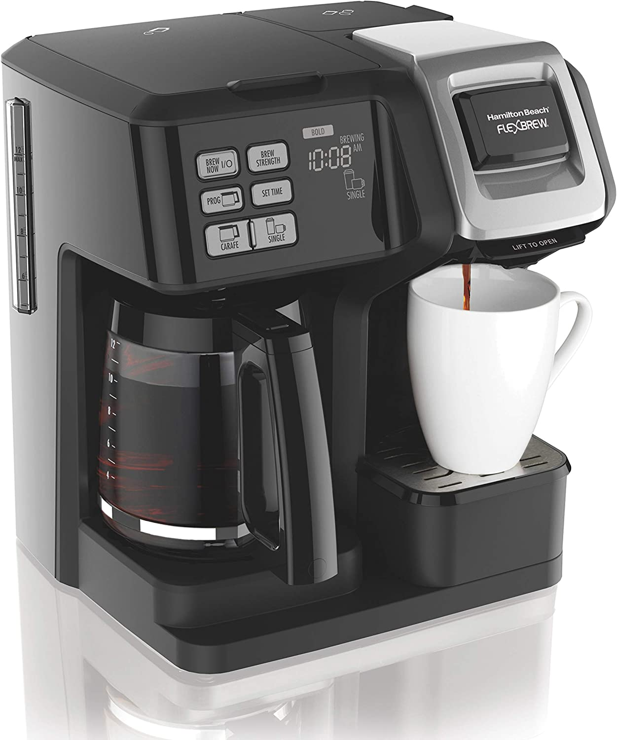 hamilton beach flexbrew single serve & full pot coffee maker