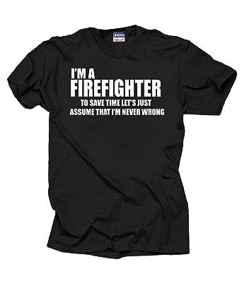 Amazon.com: I Am Firefighter T-Shirt Profession Funny Tee Shirt ...