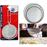 3 Pc Strainer Handle Fine Mesh Colander Sieve Flour Sifter Kitchen Food Drainer