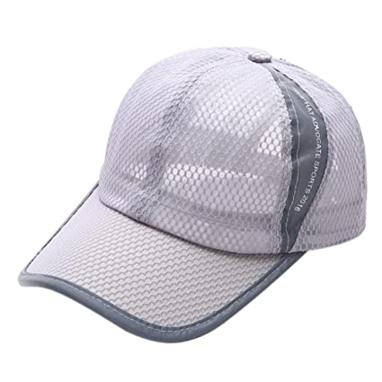 be1c7064edf Amazon.com  Botrong Summer Breathable Mesh Baseball Cap Men Women Sport Hats  (Gray)  Cell Phones   Accessories