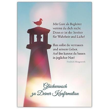Mit Gott Als Begleiter Schöne Moderne Glückwunschkarte