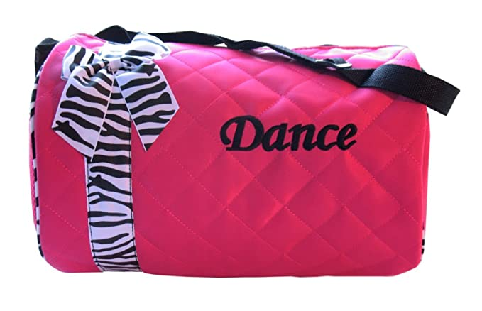 e48ef7e2d5 Amazon.com  Dance bag - Quilted Zebra Duffle  Duffel Bags  Clothing