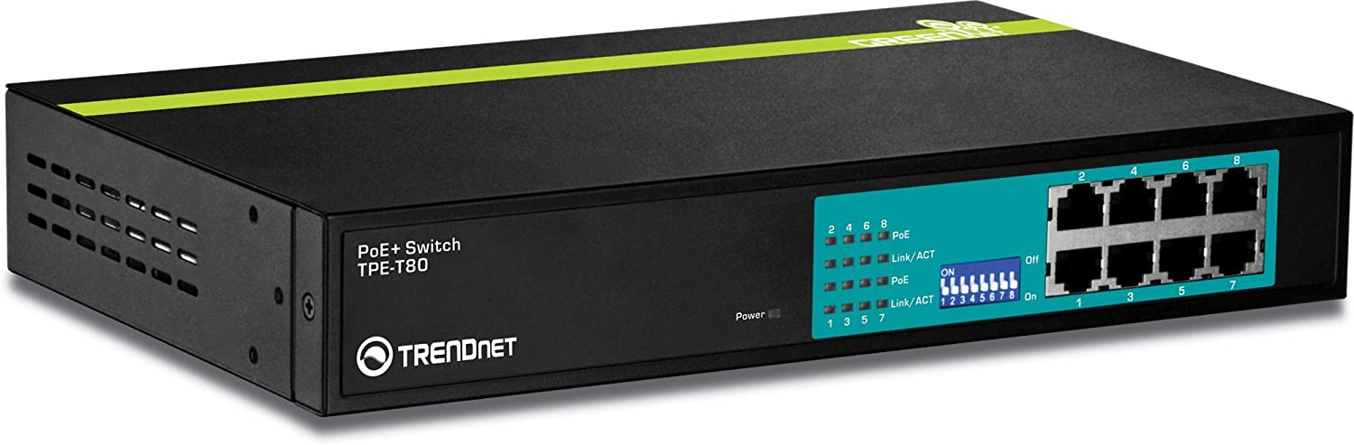 Renewed Lifetime Protection TPE-224WS Rack Mountable TRENDnet 24-Port PoE 10//100Mbps Ethernet and 4-Port Gigabit Web Smart Switch with 2 Shared Mini-GBIC Slots
