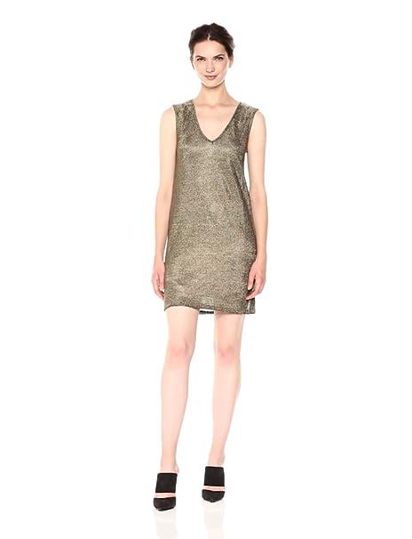 a9a38873545 Amazon.com: French Connection Women's Leah Metallic Jersey Dress ...