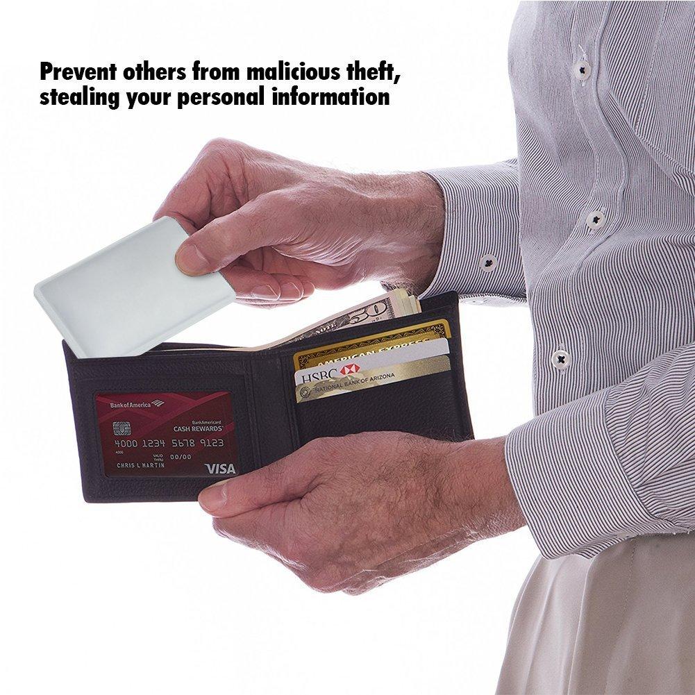 Pack de 10 RFID bloqueo anti robo seguro Protector funda soporte tipo cartera para tarjetas de crédito/débito/ID/Oyster - prevenir el fraude, robo, ...