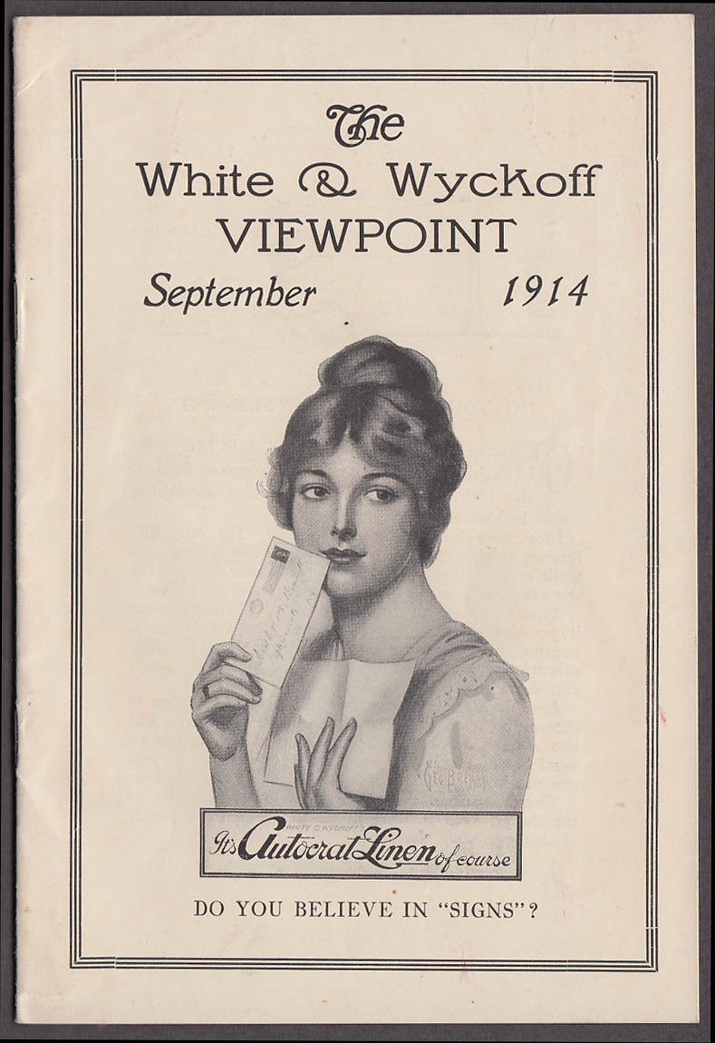 White & Wyckoff VIEWPOINT 9 1914 stationery news monthly Holyoke MA