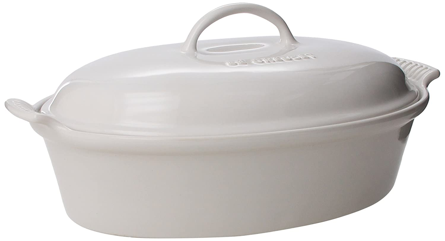 Le Creuset Stoneware 4-Quart Covered Oval Casserole, Cerise (Cherry Red) Le Creuset of America PG0405-3667