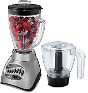 Oster Core 16-Speed Blender with Glass Jar, Black, 006878 (Renewed)