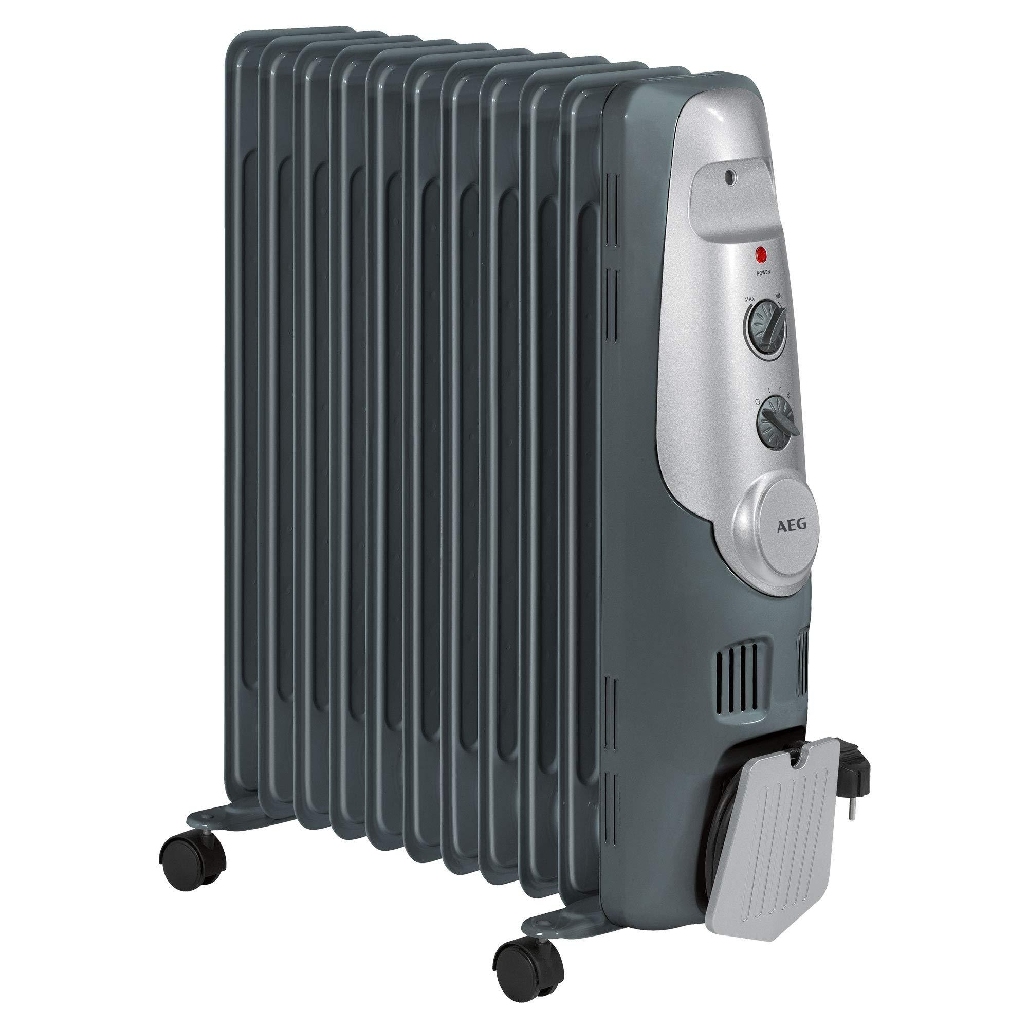 AEG RA 5522 - Radiador de aceite, 2200 W, 11 elementos, termostato,