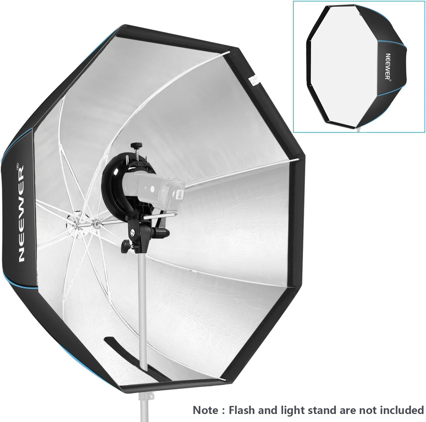 Neewer 32 inches//80 centimeters Octagonal Softbox with S-Type Bracket Holder and Carrying Bag for Speedlite Studio Flash Monolight Portrait and Product Photography with Bowens Mount