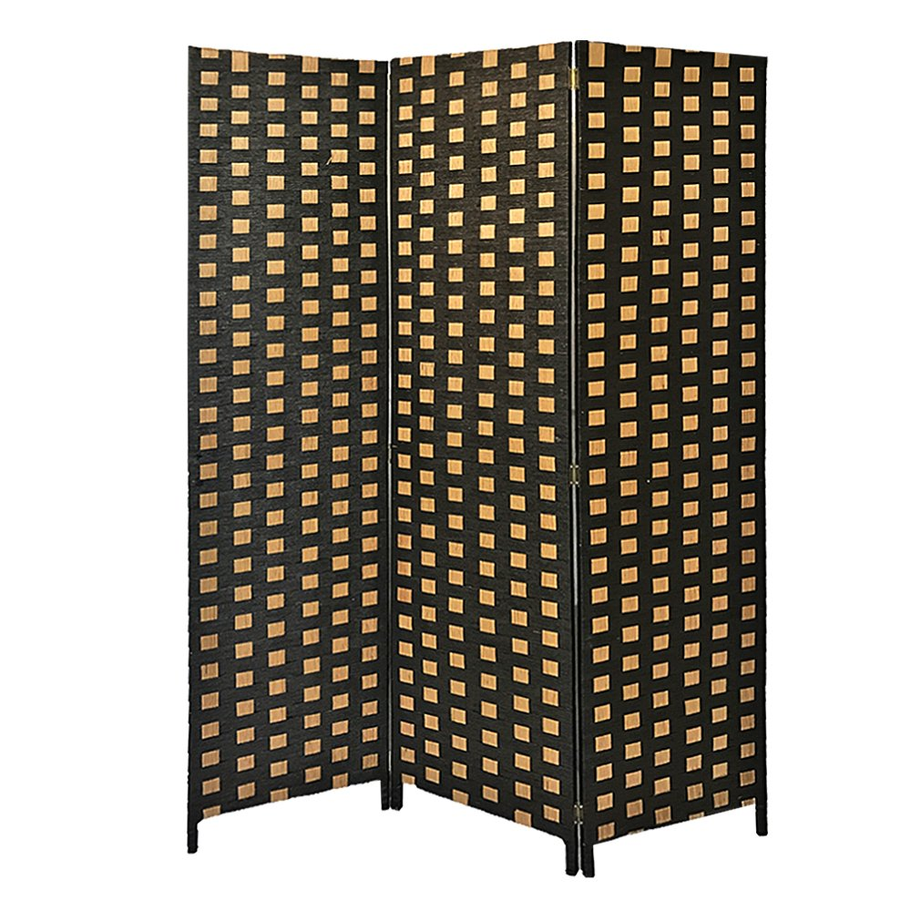 Britoniture Hand Made Wicker Room Divider Separator Privacy Screen Panel Solid Weave (3, Yellow) BOCHEN
