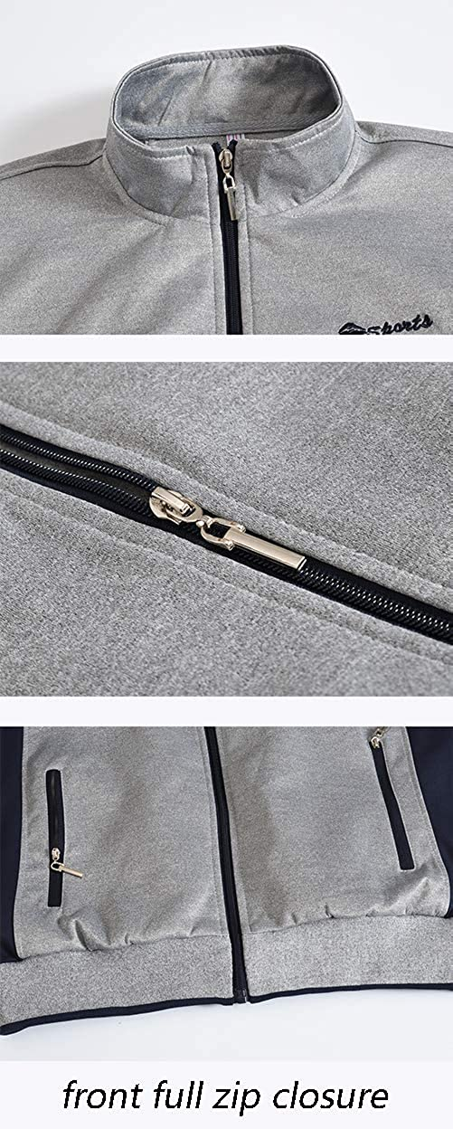 YSENTO Mens Track Suits Sports Sweatsuits Full Zip Jackets Athletic Pants Zipper Pockets